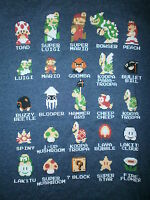NINTENDO SUPER MARIO BROTHERS T SHIRT Peach Goomba Mushroom Characters Retro S