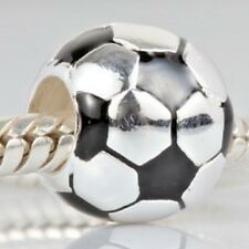 Football Charm Bead 925 Sterling Silver
