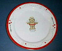 """Sonoma ~LOVE~Round 8"""" Candy Plate / Cookie Platter with RED HEARTS & CUPID BEAR"""