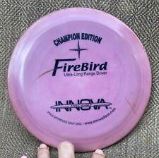 Rare Purple Innova CE Firebird FX Golf Disc Champion Edition PFN Pat# 168 grams