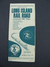 Long Island Railroad LI RR Timetable 1965 NY Patchoque Public PTT TT Schedule