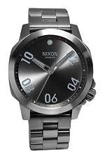 Nixon A468632 Ranger 40 All Gunmetal  Dial Steel Bracelet Watch New