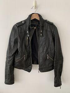 Women's Bernardo Black Leather Jacket S