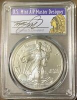 $1 American Silver Eagle Struck SF PCGS MS70 Thomas Cleveland Freedom 2017 S
