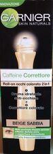 GARNIER CAFFEINE CORRETTORE + CREMA ANTI-OCCHIAIE ROLL-ON 2 IN 1 BEIGE SABBIA