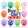 "12"" INCH 10 POLKA DOT BALONS BALLONS helium BALLOONS Party Birthday Weddings new"