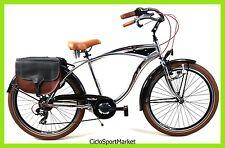 """Bicicletta Uomo Cruiser In Alluminio 26"""" Cambio Shimano 7V / Colore Silver"""