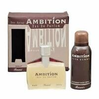 AMBITION Pour Homme 70ml + 150ml FREE  Deo EDP HIGH QUALITY 100% Original