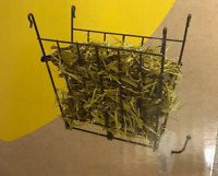 FOLDING HAY RACK FOR RABBITS GUINEA PIGS INCLUDES  SALT MINERAL WHEEL HANGER