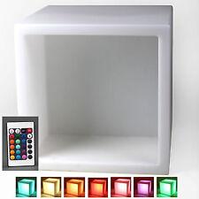 LED Leuchtwürfel Lichtwürfel Indoor Farbwechsel + Akku f. Gartenparty Regal
