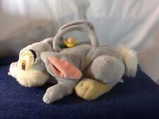 Adorable DISNEY Plush THUMPER Purse very soft has Flower Zipper Closure pre-own