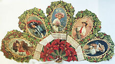 Victorian Fan Greeting Card 1909 Calendar Victorian Ladies