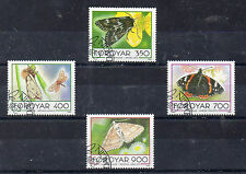Feroe Fauna Mariposas Serie del año 1993 (CA-436)