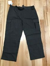 NWT BC CLOTHING Mens Cargo Pocket Adjustible Belt Outdoor Charcoal Pants Sz M