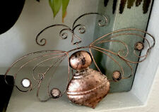 Copper Bee Metal Wall Art Rustic Distressed Home Decor Cabin Farmhouse Butterf