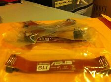 "2 WAYS ASUS Flexible NVIDIA SLI Bridge CABLE ORIGINAL- ASUS 4.7"" LONG LOGO"