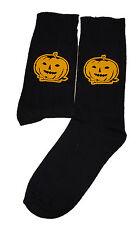 Negro Halloween Calabaza Calcetines