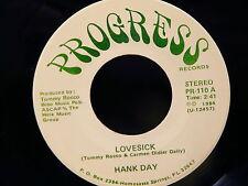HANK DAY Lovesick / the love goes on  PROGRESS PR110