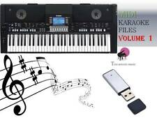 MIDI File Karaoke USB stick for PSR S650  S670 Vol 1