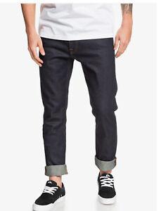 $55 Quiksilver Men's Voodoo Surf Rinse Slim Fit Jeans Indigo Size 38X32