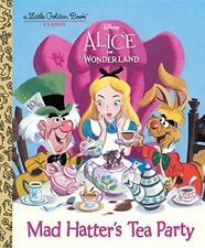Mad Hatters Tea Party Disney Alice in Wonderland Little Golden Book Classic