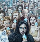 "Alex Gross ""Valar Morghulis"" Canvas Print, Game of Thrones, Nt Mondo, S/N LE"
