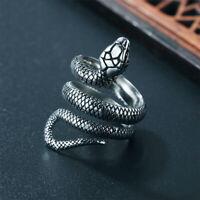 Ring Snake Jewelry Punk Fashion Women Gothic Vintage Rings Finger Men Size 6-10