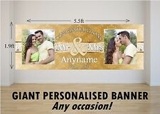 Personalised GIANT Large Congratulations Wedding Engagement Mr & Mrs Banner N78