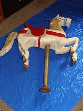 "VINTAGE: GERTIS wooden carousel horse,40""tall x 32""long.A HISTORICAL COMPETITOR"