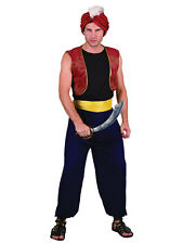 MENS ALADDIN ARABIAN BANDIT FANCY DRESS COSTUME SIN BAD OUTFIT GENIE PANTO