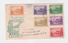 norfolk 1947 six stamps on FDC to GB    o2237