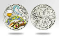 ITALIA 2021 MONETA FDC 5 EURO SICILIA PASSITO E CANNOLO SICILIANO > prevendita <