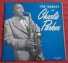 CHARLIE PARKER LP ORIG FR 60'S THE GENIUS OF CHARLIE PARKER
