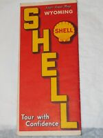 1930's Shell Road Map of Wyoming