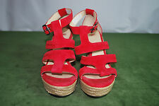 UGG Australia Twanie Red Platform Wedge Heel Sandal Shoe Woman's Sz 10