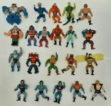 He-Man 1980's MASTERS OF THE UNIVERSE MOTU Vintage Action Figures Lot of 21