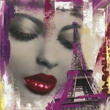 PAX : Faces París Imagen TERMINADA 60x60 Mural Retrato COLLAGE MODERNO MUJER
