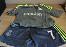 Ronaldo Real Madrid Fly Emirates #7 Youth Size 26Jersey and Shorts NWT