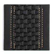 Ladelle Black Weave Faux Leather Dine Coasters