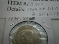 1939 Great Britain Silver Florin (2 Shillings) COIN; NICE CIRCULATED EB347