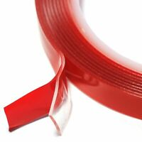 15mm x 10 Metres of Double Sided Clear Foam Adhesive Tape Auto Craft DIY Vehicle