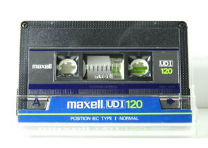 🙈 1x MAXELL UD I 120 * Tape Cassette Kassette кассета Casete *