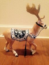 NEW * FITZ AND FLOYD BRISTOL REINDEER BLUE  WHITE FIGURINE CENTERPIECE w/ BOX