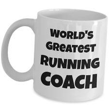 Worlds Greatest Running Coach Coffee Mug Sport Trainer Mentor Marathon Gift Cup