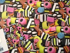 2 SHEETS LIQUORICE ALL SORTS WRAPPING PAPER & 1 GIFT TAG (067)