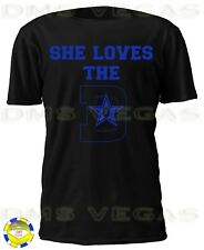 Dallas Cowboys She Loves The D 8 Troy Aikman Jersey Tee Shirt Men Size S- 3760defff