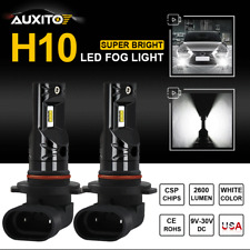 2X Auxito H10 9145 Led Fog Light Car Driving Bulbs High Power 6000K White Lamp