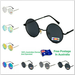 Polarised Mens Womens Vintage Polarized Glasses Eyewear Round Sunglasses R001