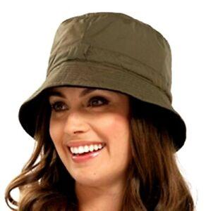 Rainproof Bucket Hat BROWN Women's Men's Outdoor Fashion FREEPOST Waterproof