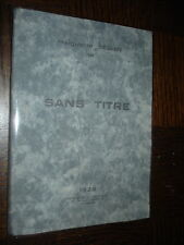 SANS TITRE - Histoires vraies - Marguerite Séguin (envoi) 1928